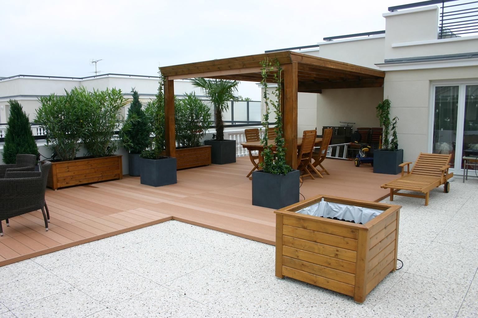 Des pros pour am nager votre terrasse for Cout amenagement jardin paysagiste