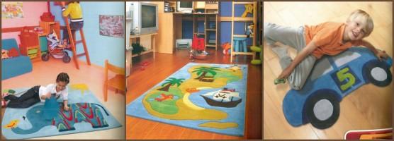 Avec un tapis confortable l'enfant aura envie de jouer dans sa chambre.