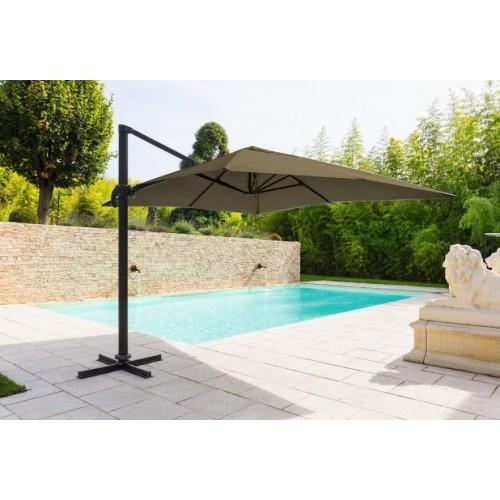 Un joli parasol s'harmonisera avec votre salon de jardin et vous protégera du soleil.